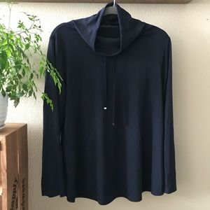 Ann Taylor Navy Cowl Neck Sweater